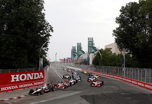 8-10 July, 2011, Toronto, Ontario, Canada<br /> Will Power leads a restart<br /> (c)2011, Michael L. Levitt<br /> LAT Photo USA