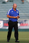 08 July 2015: Carolina head coach Colin Clarke (NIR). The Carolina RailHawks hosted the Fort Lauderdale Strikers at WakeMed Stadium in Cary, North Carolina in a North American Soccer League 2015 Fall Season match. The game ended in a 1-1 tie.