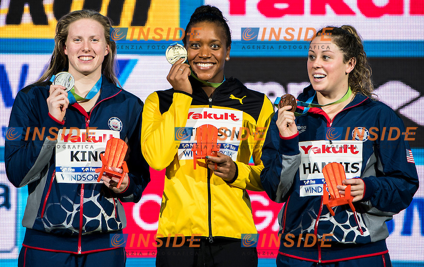 ATKINSON Alia JAM Gold Medal<br /> KING Lilly USA Silver Medal<br /> HANNIS Molly USA Bronze Medal<br /> Women's 100m Breaststroke<br /> 13th Fina World Swimming Championships 25m <br /> Windsor  Dec. 10th, 2016 - Day05 Final<br /> WFCU Centre - Windsor Ontario Canada CAN <br /> 20161210 WFCU Centre - Windsor Ontario Canada CAN <br /> Photo &copy; Giorgio Scala/Deepbluemedia/Insidefoto