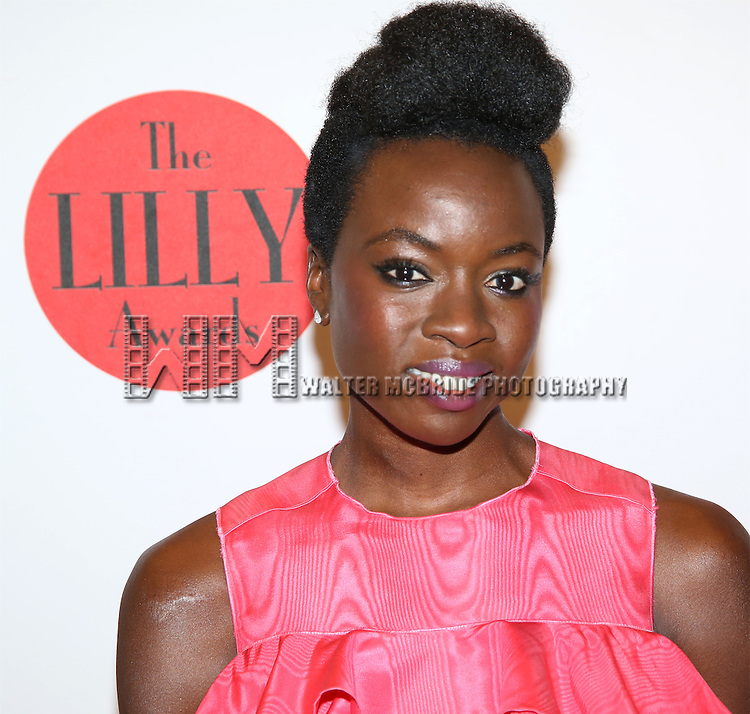 Danai Gurira attends The 7th Annual Lilly Awards  at Signature Theatre on May 23, 2016 in New York City.