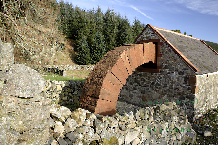 Striding Arches sculpture by Andy Goldsworthy at Cairnhead above Moniaive Dumfries and Galloway Scotland UK