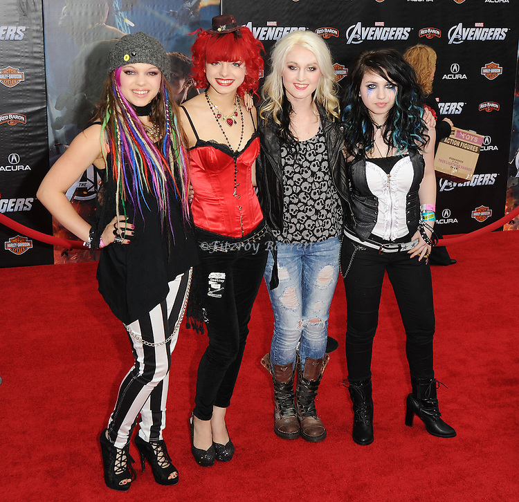 Cherri Bomb at the premiere of Marvel's The Avengers, held at El Capitan Theatre in Hollywood,  CA. April 11, 2012