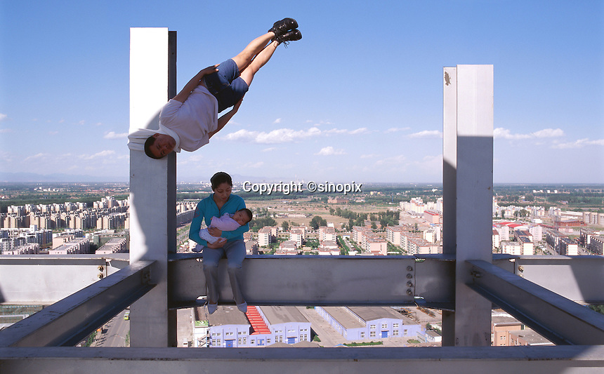 "Li Wei artwork named ""A pause for humanity"" in Beijing...PHOTO BY SINOPIX"