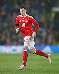 Tom Lawrence of Wales during the international friendly match at the Cardiff City Stadium. Photo credit should read: Philip Oldham/Sportimage