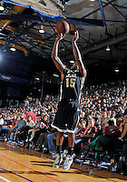 NBA player Mario Chalmers shoots at the South Florida All Star Classic held at FIU's U.S. Century Bank Arena, Miami, Florida. .