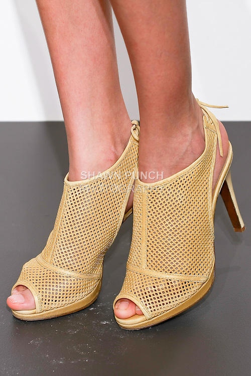 J. Crew shoes worn by model during the J. Crew Women's Spring 2011 Collection Presentation.
