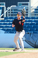 Minnesota Twins minor league first baseman Rory Rhodes during a game vs. the New York Mets in an Instructional League game at City of Palms Park in Fort Myers, Florida;  October 4, 2010.  Photo By Mike Janes/Four Seam Images