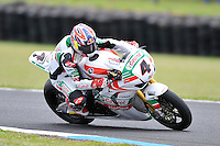 PHILLIP ISLAND, 27 FEBRUARY - Jonathan Rea (GBR) riding the Honda CBR1000RR (4) of the Castrol Honda Team during race one of round one of the 2011 FIM Superbike World Championship at Phillip Island, Australia. (Photo Sydney Low / syd-low.com)