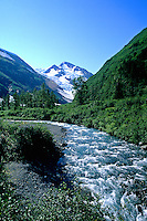 River in Portage Area of South Alaska USA