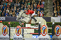 BEL-Gregory Wathelet rides Coree during the Longines FEI Nations Cup Jumping Final. 2017 ESP-Longines FEI Nations Cup Jumping Final - CSIO Barcelona. Real Club de Polo de Barcelona. Saturday 30 September. Copyright Photo: Libby Law Photography