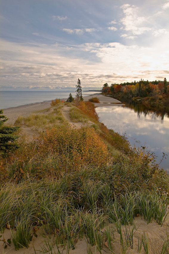 The mouth of the Two Hearted River in Michigan's Upper Peninsula.