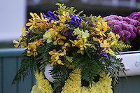 Flower for the winners of the Lava Man Cal Cup Classic at Santa Anita Park in Arcadia, California on October 13, 2012.