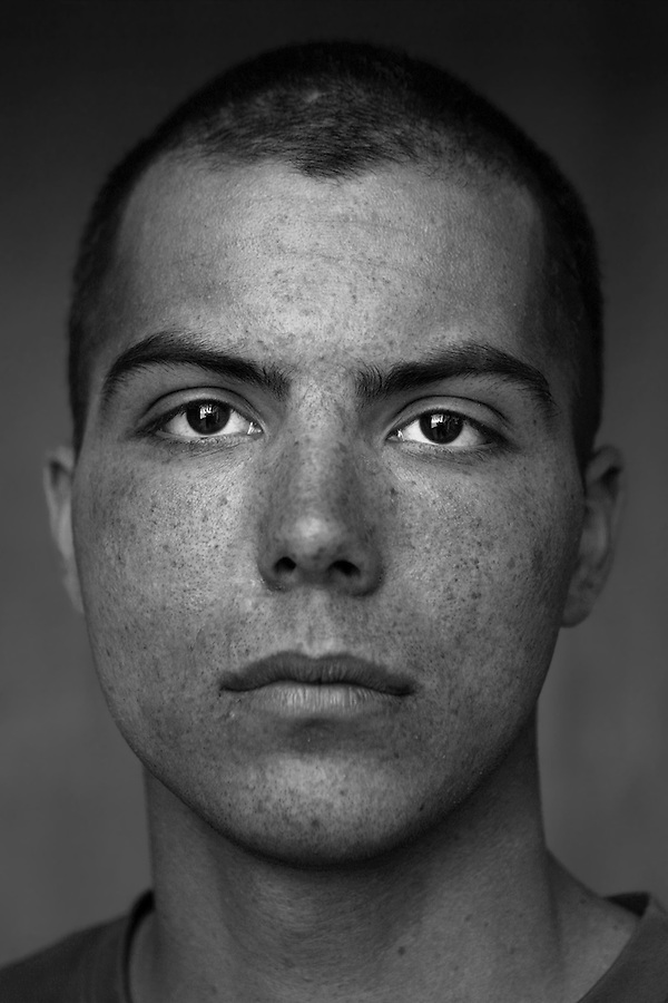 Lcpl. Christopher Marquez, 20, Corona, California, Second Platoon, Kilo Co., 3rd Battalion 1st Marines, 1st Marine Division, United States Marine Corps, at the company's firm base in Haditha, Iraq on Sunday Oct. 22, 2005.