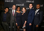 "Reza Salazar, Steve Key, Lisa Renee Pitts, Deirdre Madigan, Hunter Hoffman and Benton Greene attends the Broadway Production of  ""Sweat"" at studio 54 Theatre on March 26, 2017 in New York City"