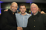 Paul McGrath with Emmet and Michael Grogan at the Launch of the Monster Car Draw in aid of the Gary Kelly Centre at Smiths Garage....Photo NEWSFILE/Jenny Matthews.