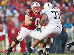Wisconsin Badgers offensive lineman Kevin Zeitler (70) blocks during an NCAA Big Ten Conference college football game against the Penn State Nittany Lions on November 26, 2011 in Madison, Wisconsin. The Badgers won 45-7. (Photo by David Stluka)