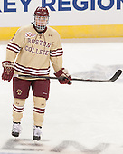 Teddy Doherty (BC - 4) - The Boston College Eagles defeated the University of Denver Pioneers 6-2 in their NCAA Northeast Regional semi-final on Saturday, March 29, 2014, at the DCU Center in Worcester, Massachusetts.