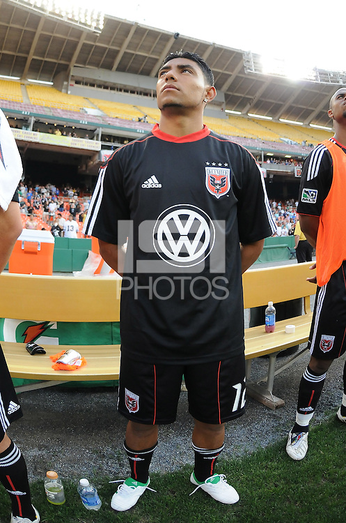 DC United midfielder Christian Castillo (12)   DC United defeated Chivas USA 3-2 at RFK Stadium, Saturday  May 29, 2010.