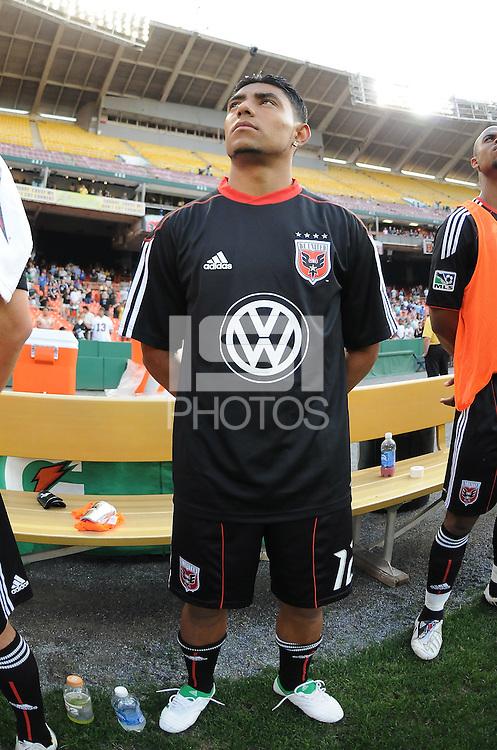 DC United midfielder Christian Castillo (12)   DC United defeated Chivas USA 3-2 at RFK Stadium, Saturday  May 29, 2010.