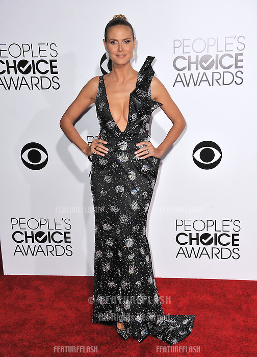 Heidi Klum at the 2014 People's Choice Awards at the Nokia Theatre, LA Live.<br /> January 8, 2014  Los Angeles, CA<br /> Picture: Paul Smith / Featureflash