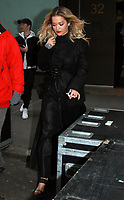 NEW YORK, NY February 1: Rita Ora seen leaving NBC's Today Show  in New York City on February 1, 2018. <br /> CAP/MPI/RW<br /> &copy;RW/MPI/Capital Pictures