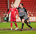 Par?s Lawrence Shankland celebrates after he scores their third goal on his debut.