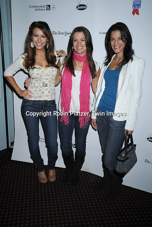 """Chrishell Stause, Melissa Claire Egan of """"All My Children""""..and Jacqueline Hendy of """"One Life To Live""""..at The Broadway Cares/Equity Fights Aids 22nd Annual Broadway Flea Market on September 21, 2008 in Shubert Alley in New York City. ....Robin Platzer, Twin Images"""