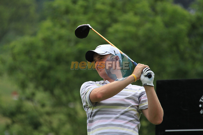 Marc Warren teeing off on the 14th on day three of the Celtic Manor wales Open 2010.Picture Fran Caffrey/Newsfile.ie