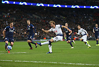 Tottenham Hotspur's Harry Kane with a first half shot<br /> <br /> Photographer Rob Newell/CameraSport<br /> <br /> UEFA Champions League -Group B - Tottenham Hotspur v PSV Eindhoven - Tuesday 6th November 2018 - Wembley Stadium - London<br />  <br /> World Copyright © 2018 CameraSport. All rights reserved. 43 Linden Ave. Countesthorpe. Leicester. England. LE8 5PG - Tel: +44 (0) 116 277 4147 - admin@camerasport.com - www.camerasport.com