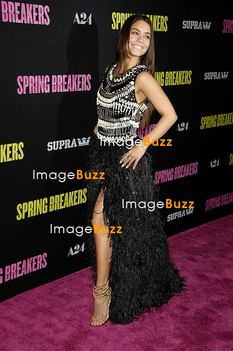 Vanessa Hudgens during the premiere of the new movie from A24 SPRING BREAKERS, held at the Arclight Cinema, on March 14, 2013, in Los Angeles..