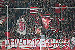 30.11.2018, Merkur Spielarena, Duesseldorf , GER, 1. FBL,  Fortuna Duesseldorf vs. 1.FSV Mainz 05,<br />  <br /> DFL regulations prohibit any use of photographs as image sequences and/or quasi-video<br /> <br /> im Bild / picture shows: <br /> Fans, freundlich, Stimmung, farbenfroh, Nationalfarbe, geschminkt, Emotionen, duesseldorfer<br /> Foto © nordphoto / Meuter