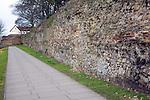 Roman wall Colchester Essex