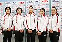 Chiaki Matsumura (JPN), Miyuki Sato, Emi Shimizu (JPN), Miyo Ichikawa (JPN), Satsuki Fujisawa (JPN), NOVEMBER 16, 2011 - Curling : Japanese National Curling team attend press conference in Tokyo, Japan, regarding the 2011 Pacific-Asia Curling Championships. (Photo by Yusuke Nakanishi/AFLO SPORT) [1090]
