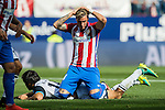 Jose Maria Gimenez of Atletico Madrid reacts during their La Liga match between Atletico Madrid and Deportivo de la Coruna at the Vicente Calderon Stadium on 25 September 2016 in Madrid, Spain. Photo by Diego Gonzalez Souto / Power Sport Images