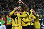 BL, Borussia Dortmund vs VfB Stuttgart, DFL regulations prohibit any use of photographs as image sequences and/or quasi-video<br /> <br /> im Bild die Mannschaft von Dortmund Jubel / Freude / Emotion / Torjubel / Torschuetze zum 1:0 Marco Reus (#11, Borussia Dortmund) <br /> <br /> Foto &copy; nph/Mauelshagen