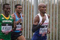 Mo Farah of Great Britain during the IAAF World Half Marathon Championships 2016 in Cardiff, Wales on 26 March 2016. Photo by Mark  Hawkins / PRiME Media Images.