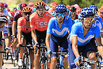 The peloton on Puerto de Alcublas 2nd Cat climb during Stage 5 of La Vuelta 2019 running 170.7km from L'Eliana to Observatorio Astrofisico de Javalambre, Spain. 28th August 2019.<br /> Picture: Ann Clarke | Cyclefile<br /> <br /> All photos usage must carry mandatory copyright credit (© Cyclefile | Ann Clarke)