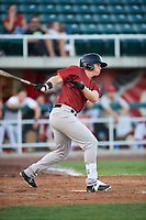 Idaho Falls Chukars Rhett Aplin (21) at bat during a Pioneer League game against the Orem Owlz at The Home of the OWLZ on August 13, 2019 in Orem, Utah. Orem defeated Idaho Falls 3-1. (Zachary Lucy/Four Seam Images)