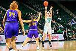 DENTON TEXAS, November 3: University of North Texas Mean Green Women's Basketball v University of Mary Harden Baylor at the Super Pit in Denton on November 3 2018 (Photo Rick Yeatts Photography/Colin Mitchell)