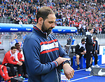 14.04.2018, OLympiastadion, Berlin, GER, 1.FBL, Hertha BSC VS. 1.FC Koeln, im Bild <br /> Cheftrainer STEFAN RUTHENBECK (1.FC Koeln)<br /> <br /> <br />       <br /> Foto &copy; nordphoto / Engler
