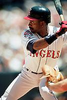 Tony Phillips of the California Angels during a 1995 season game at Anaheim Stadium in Anaheim,California.(Larry Goren/Four Seam Images)