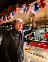 Melbourne, July 14, 2018 - Philippe Mouchel celebrates Bastille Day at Philippe Restaurant in Melbourne, Australia. Photo Sydney Low