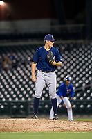 AZL Brewers relief pitcher Tyler Thorne (52) prepares to deliver a pitch during a game against the AZL Cubs on August 6, 2017 at Sloan Park in Mesa, Arizona. AZL Cubs defeated the AZL Brewers 8-7. (Zachary Lucy/Four Seam Images)