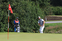 Victor Dubuisson (FRA) on the 4th green during Round 4 of Made in Denmark at Himmerland Golf &amp; Spa Resort, Farso, Denmark. 27/08/2017<br /> Picture: Golffile | Thos Caffrey<br /> <br /> All photo usage must carry mandatory copyright credit     (&copy; Golffile | Thos Caffrey)