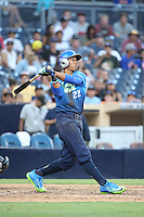 Cal Mitchell, Calvin Mitchell (22) of the West Team bats against the East Team during the Perfect Game All American Classic at Petco Park on August 14, 2016 in San Diego, California. West Team defeated the East Team, 13-0. (Larry Goren/Four Seam Images)