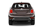 Straight rear view of 2016 Fiat 500X Trekking-Plus-4WD 5 Door SUV Rear View  stock images