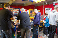 COPY BY TOM BEDFORD<br /> Pictured: The Welsh Classic Pinball Open in 2010.<br /> Re: Pinball widow Elaine Rolfe from Abergavenny, south Wales, whose late husband David left her 30 pinball machines.