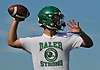 Tommy Donovan, Farmingdale quarterback, throws a pass during varsity football practice at Farmingdale High School on Tuesday, Aug. 16, 2016.