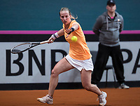 Bratislava, Slovenia, April 23, 2017,  FedCup: Slovakia-Netherlands,seccond rubber sunday,  Richel Hogenkamp (NED)<br /> Photo: Tennisimages/Henk Koster