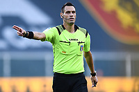 referee Maurizio Mariani during the Serie A football match between Genoa CFC and SSC Napoli stadio Marassi in Genova ( Italy ), July 08th, 2020. Play resumes behind closed doors following the outbreak of the coronavirus disease. <br /> Photo Matteo Gribaudi / Image / Insidefoto